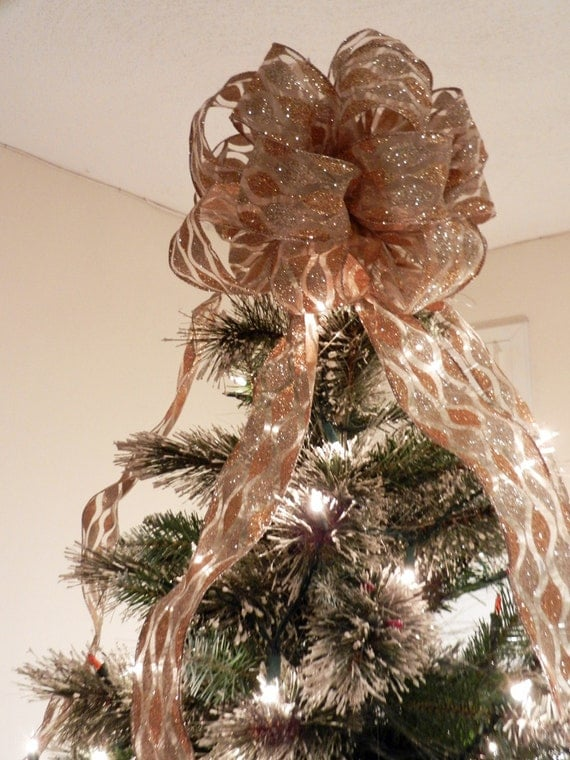 Wide Ribbon On Christmas Tree