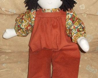Rag Doll Peter in Corduroy Rompers