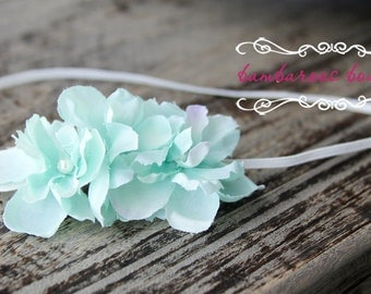 baby headband, newborn headband, small dainty flower headband, infant