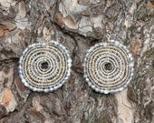 Crystal and Silver Maasai Beaded Earrings