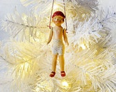 20% SALE - Creepy Cute Christmas Bling - Tap Dancer in Knickers - Ornament