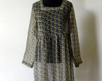 Vintage 1990s Grunge Baby Doll Dress