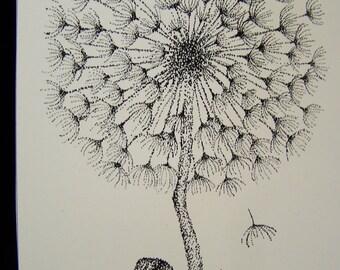 Dandelion Stippling Print P810