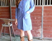 Yee Haw VINTAGE Denim Dress with Applique Blossoms