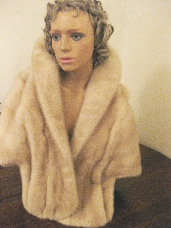 Reserved for Aimee Mad Men Blonde Mink Stole