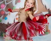 Gingerbead Tutu Dress Reserved for Christina