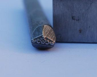 Scroll Border Metal Design Stamp-Metal Stamp LARGE 3/8 in.-Metal Stamping Tool-Perfect for Metal Stamping and Metal Work
