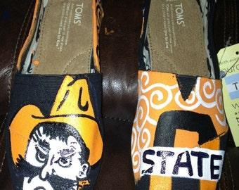 Custom Painted Oklahoma State (OSU) Toms