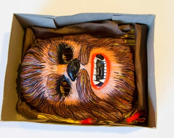 """Star Wars Halloween Costume and Mask, Halloween Party Pop Culture, STAR WARS """"Chewbacca"""" (RARE Ben Cooper 1977 Costume and Mask)"""