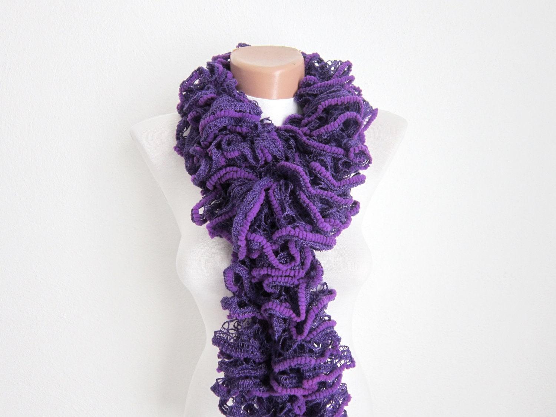 knit scarfruffled scarffrilly scarf ruffled by scarfnurlu