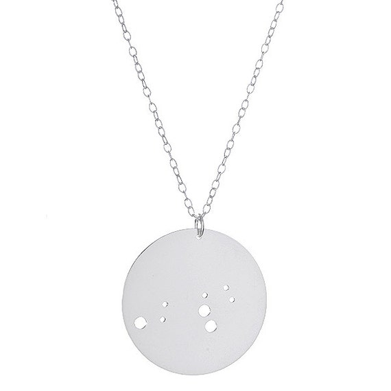 Sterling Silver Leo Constellation Pendant Necklace