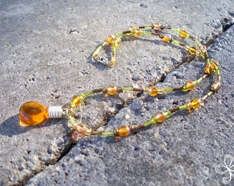 Bee Sweet Honey Necklace 1-K (beaded)
