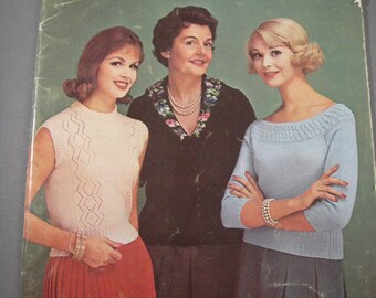 Knit Crochet Patterns Sweaters Coats & Clarks Book No 114