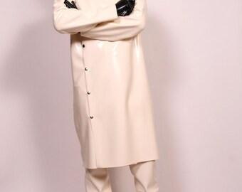 Mens Heavy Latex Lab Coat or Set