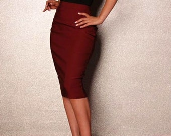 Classic pencil skirt   choose your size  or your mesurments custom order , tailor made