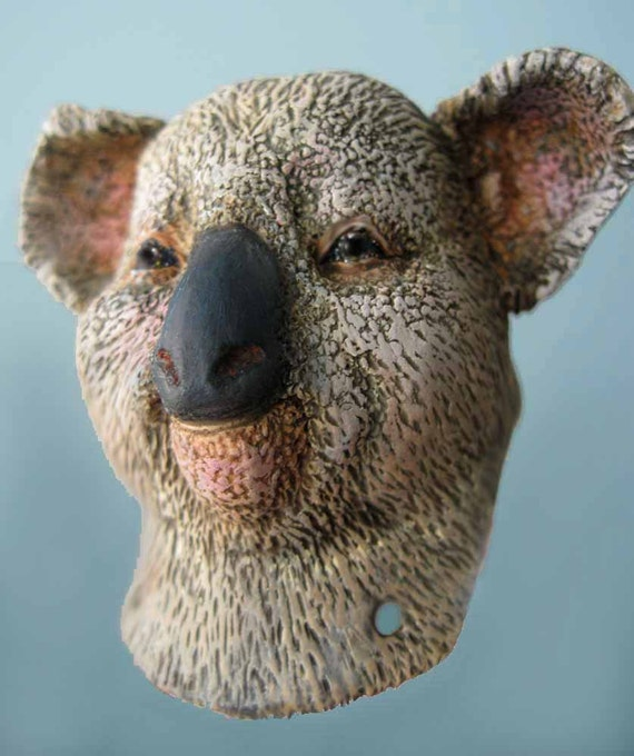 Custom Koala Anthro Art Doll Bust