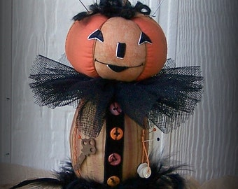 PUMPKIN PINCUSHION Pinkeep, Halloween Decor, On Sale, 40% off