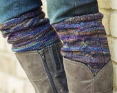 "KNITTING PATTERN, PDF file for cabled boot cuffs, boot toppers, legwarmers ""County Clare"""