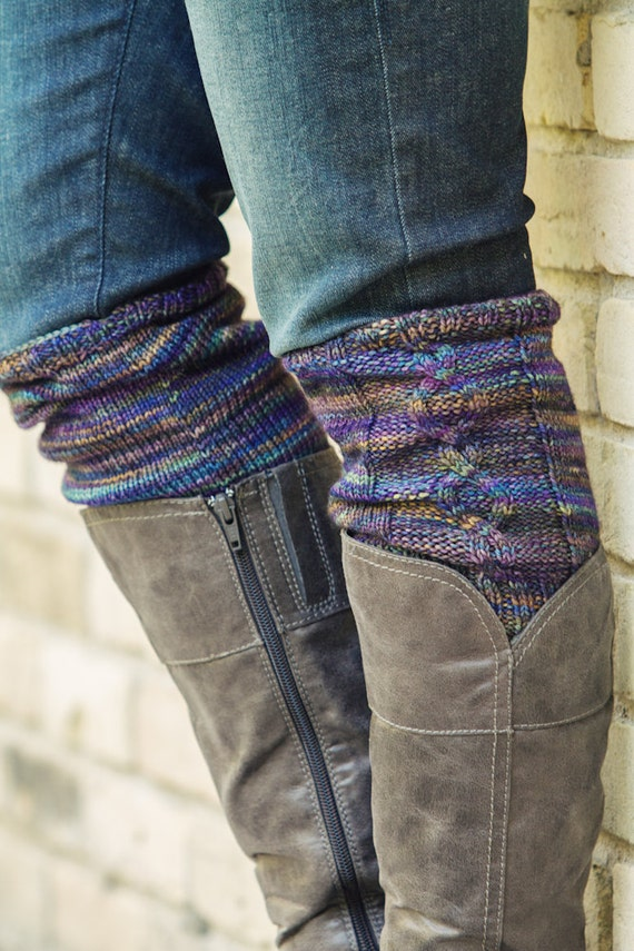 Knitted Boot Cuff Free Patterns : KNITTING PATTERN PDF file for cabled boot cuffs boot