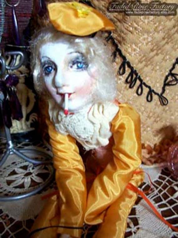 Flapper OOAK Art Doll Masquerade