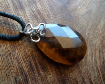 Tiger Eye And Sterling Silver Pendant. Tiger Eye Properties. Tiger Eye Necklace.