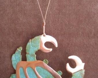 CRAB Copper Verdigris Ornament - Handcrafted in The Copper State (Arizona USA)