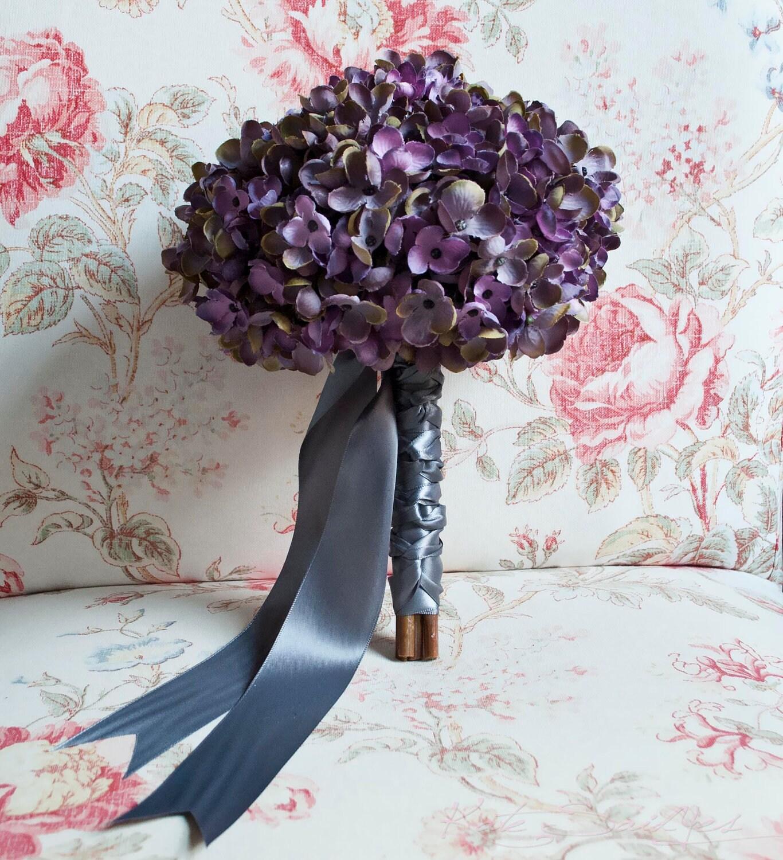 Lavender Wedding Favors: Lavender And Gray Hydrangea Wedding Bouquet