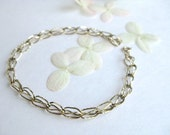"5mm, 8"" Gold Filled vintage chain Bracelet, chunky ladies vintage gold accessories"