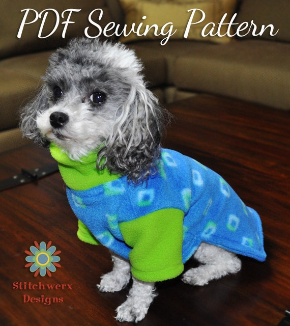 DOG CLOTHES PATTERN Small Dog Fleece Sweater Sewing Pattern
