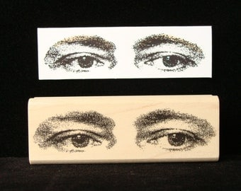 """eyes rubber stamp """"eyes have it"""""""