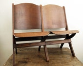 RESERVED Vintage Theater Seats : Folding Wood Chairs