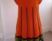 Nonas one of a kind  hand knit Tiffany inspired vintage tunic dress