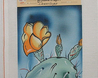 Cactus and Flower Needlepoint Canvas*