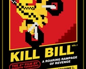 Kill Bill Vol 1 - 8-Bit Game Style Print - 12x16