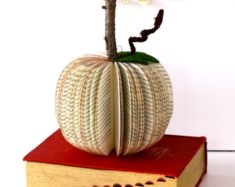 small BOOK PUMPKIN /// made to order