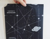 Pack Vintage Carbon Paper Mid Century Office Accessories Carter's Ink Company Midnight Black Night Planet Astronomy Galaxy Star Art Craft