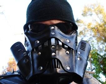 Onyx Steampunk Trooper Motorcycle Mask