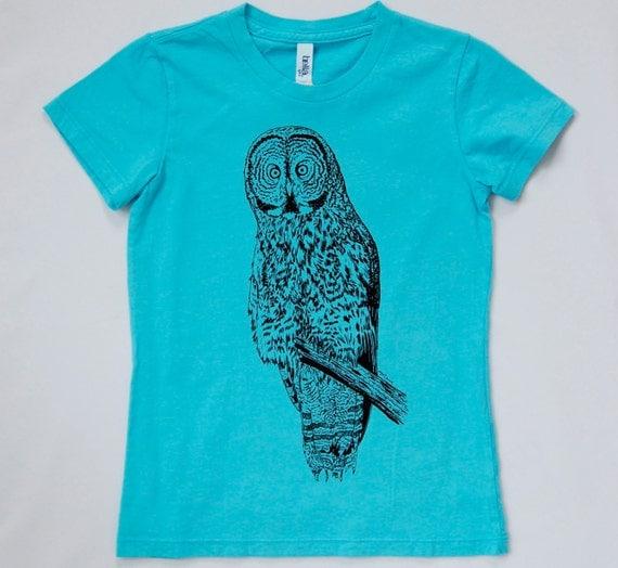 50% OFF Girl's Great Gray Owl Tshirt, M