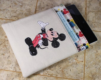 Disney Nook Simple Touch Case / Mickey Nook Color Cover / Mickey Mouse Nook Tablet Case / Nook Tablet Cover with pocket - embroidered Mickey