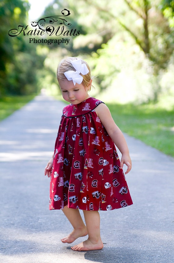 Girls Gamecock Dress, USC Gameday Dress, Clemson Also Available