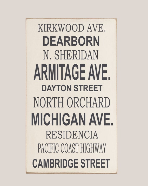 Personalized Subway Art, You Choose Words, Subway Art Wood Sign, Street Subway Sign, Subway Sign, Home Decor, Art for Home, Your Colors