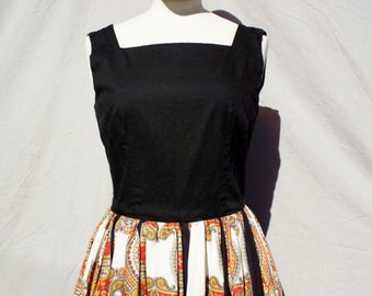 1950's Paisley Baroque Party Dress