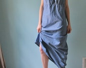 vintage chambray maxi dress large 12