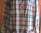 Vintage 40's 50's Plaid Retro Wool Jacket Coat