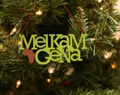 "Green Melkam Gena Ornament - 5"" wide"