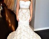 Pearl Belt: Wedding Bridal Sash, Ivory, Silver, Champagne