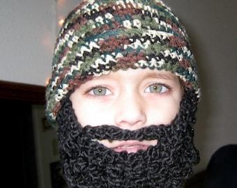 Costume Child Beard Baby Beanie- Full Beard, Santa Claus