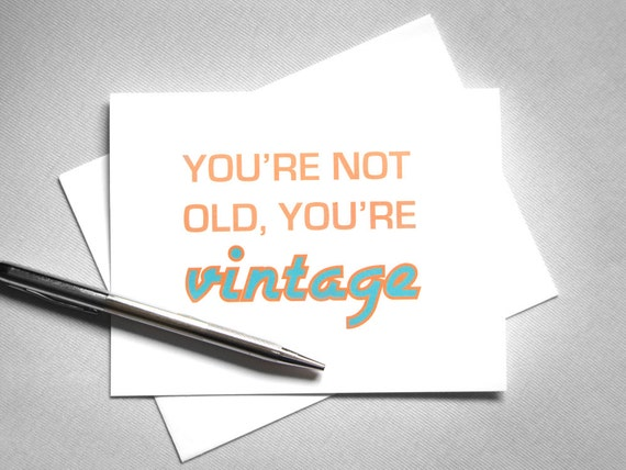 Funny Birthday Card. Printable Birthday Card. Vintage Birthday Card. Happy Birthday Card. Digital Download. Instant Download.