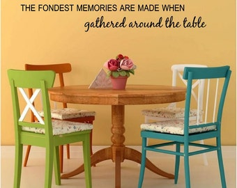 The Fondest Memories Are Made When Gathered Around Table