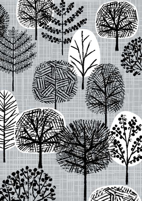 Grey Forest, limited edition giclee print